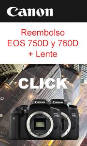 Canon Reembolso Navidad EOS 750D y 760D con lente