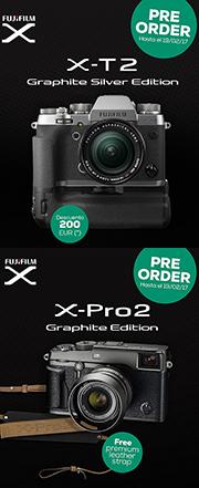 PreOrder Fuji X-Pro2 y X-T2 Graphite
