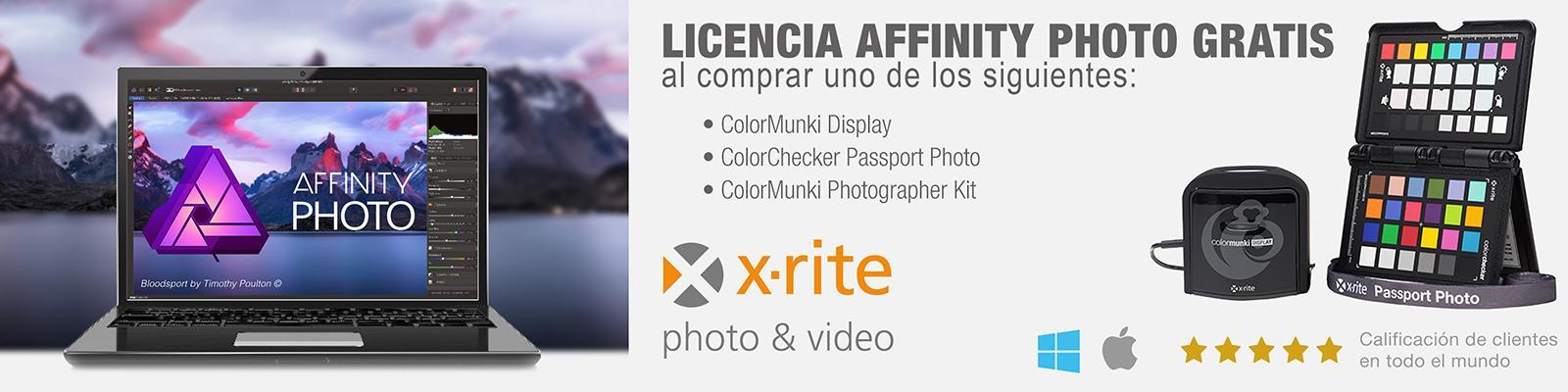 Ofertas X-Rite con software Affinity