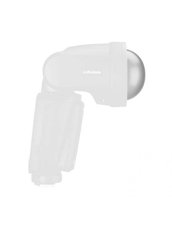 Profoto  Difusor Dome Para A1 Air TTL - La herramienta Dome Diffuser proporciona al flash A1integrado una luz mucho más tenue y suave. Si se usa de forma indirecta para reflejar la luz en una superficie, ilumina suavemente al sujeto. Si se usa de forma directa, proporciona una iluminación suave y nítida. La herramienta Dome Diffuser se ajusta en la montura magnética inteligente del A1 al instante y se puede combinar con otras Light Shaping Tools A1.