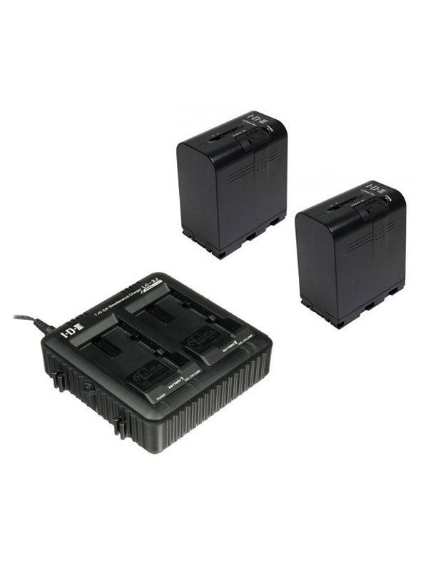 JVC IDX-JP2-E Kit Cargador Doble + 2 Baterías SSL75 -