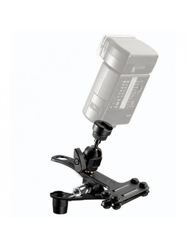 Manfrotto Pinza 175F Con Rotula y Zapata Flash -