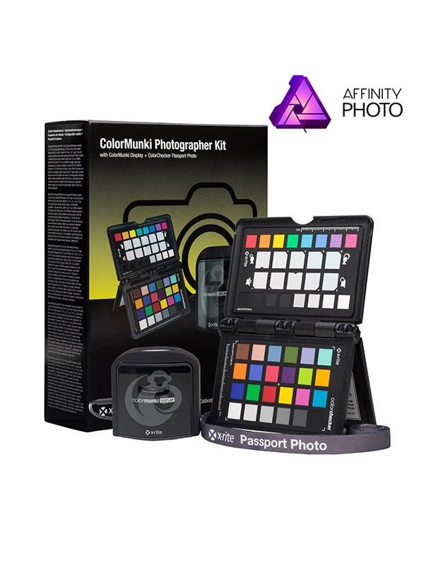 X-Rite Photo Kit Affinity (Display + ColorChecker + Affinity) - Ahorra los 54,99€ del magnífico Affinity Photo por la compra de éste Pack.