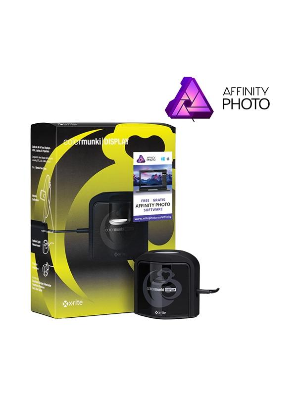 X-Rite Kit Affinity (Display + Affinity) - Ahorra los 54,99€ del magnífico Affinity Photo por la compra de éste Pack.