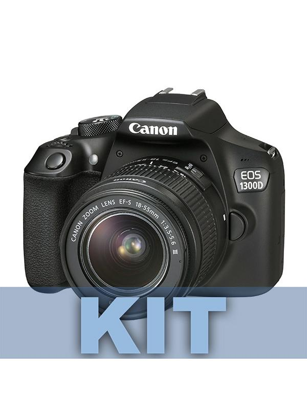 Canon Cámara EOS 1300D + 18-55mm IS Power Kit -