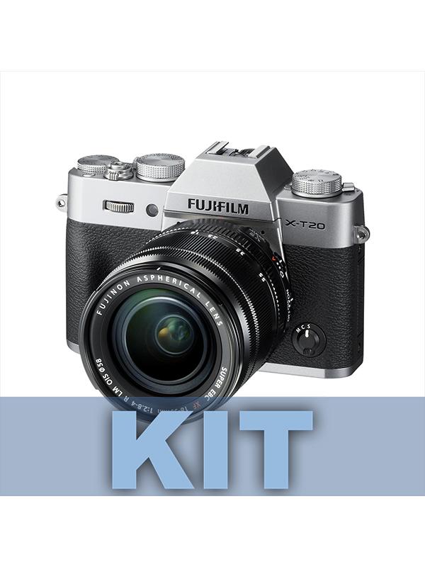 Fuji Cámara XT20 Plata + XF 18-55mm f2.8-4 R LM OIS -
