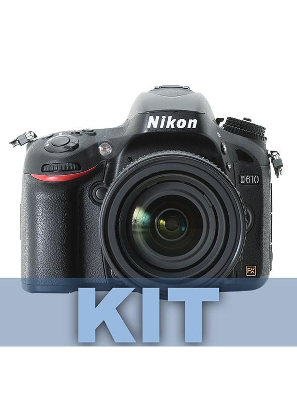Nikon Cámara D610 + 24-85mm VR - Experimente la verdadera potencia de la fotografía en fotograma completo con la D610.  Equipada con la tecnología profesional de Nikon, esta potente D-SLR proporciona el tipo de calidad de imagen que sólo el formato FX puede ofrecer.   El sensor de formato FX de 24,3 megapíxeles captura cada detalle con nitidez realista, por lo que proporciona fotos brillantes con colores ricos y vídeos HD de máxima potencia sin problemas. Puede capturar la acción a una velocidad de 6 fotogramas por segundo; además, el nuevo modo de ráfaga Disparo silencioso de Nikon le permite disparar casi en silencio: perfecta para cuando desee fotografiar la vida salvaje.   La D610 es lo suficientemente resistente para llevarla a cualquier lugar, y podrá compartir todo el esplendor de sus imágenes a través de un dispositivo inteligente con el Adaptador móvil inalámbrico de Nikon. Incluye objetivo AF-S NIKKOR 24-85mm f/3.5-4.5G ED VR