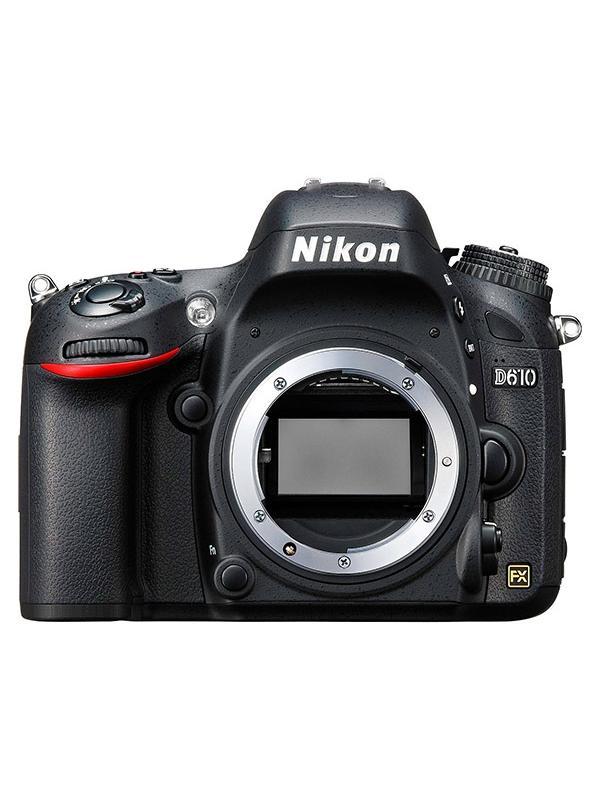 Nikon Camara D610 Cuerpo - Experimente la verdadera potencia de la fotografía en fotograma completo con la D610.  Equipada con la tecnología profesional de Nikon, esta potente D-SLR proporciona el tipo de calidad de imagen que sólo el formato FX puede ofrecer.   El sensor de formato FX de 24,3 megapíxeles captura cada detalle con nitidez realista, por lo que proporciona fotos brillantes con colores ricos y vídeos HD de máxima potencia sin problemas. Puede capturar la acción a una velocidad de 6 fotogramas por segundo; además, el nuevo modo de ráfaga Disparo silencioso de Nikon le permite disparar casi en silencio: perfecta para cuando desee fotografiar la vida salvaje.   La D610 es lo suficientemente resistente para llevarla a cualquier lugar, y podrá compartir todo el esplendor de sus imágenes a través de un dispositivo inteligente con el Adaptador móvil inalámbrico de Nikon.