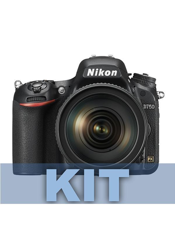 Nikon Cámara D750 + 24-120mm f4 G VR - Incluye el cuerpo de la cámara D750 y objetivo AF-S NIKKOR 24-120mm f/4G ED VR, portátil y potente. Este objetivo totalmente versátil, que cuenta con una amplia cobertura desde gran angular hasta teleobjetivo y con un diafragma constante de f/4, permite obtener imágenes estáticas y vídeos impresionantes con cualquier distancia focal. Incluye objetivo 24-120mm f4 G VR.