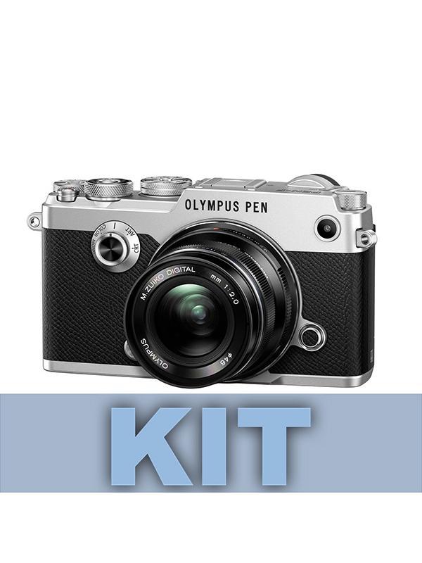 Olympus Cámara PEN-F Cuerpo Plata + 14-42mm