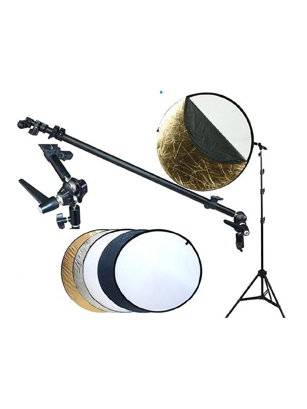 Fotima Kit Reflector 5 en 1 + Pie + Soporte 110cm -