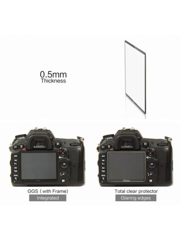 GGS Larmor Protector Cristal 0.5mm LCD Nikon D7100/D7200 sin Pegamento -