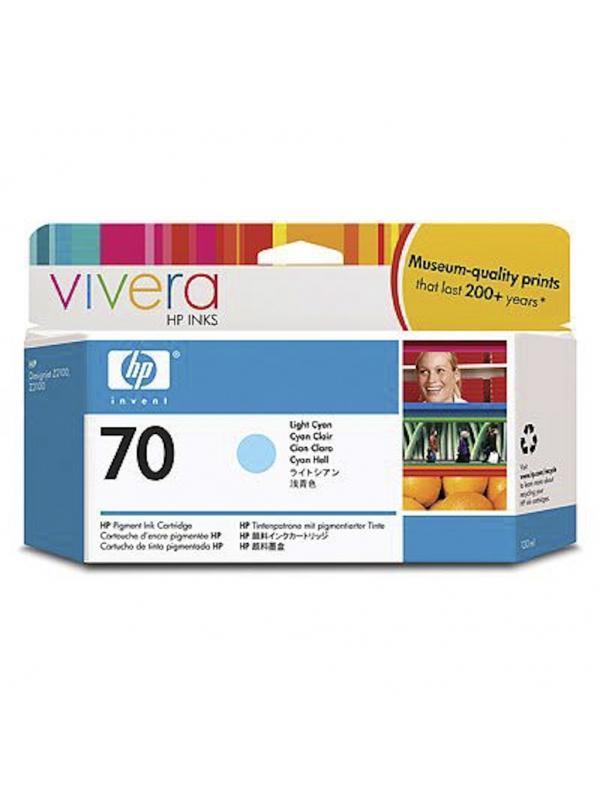 HP Tinta 70 C9390A Cian Claro 130ml Z2100/3100/3200 -