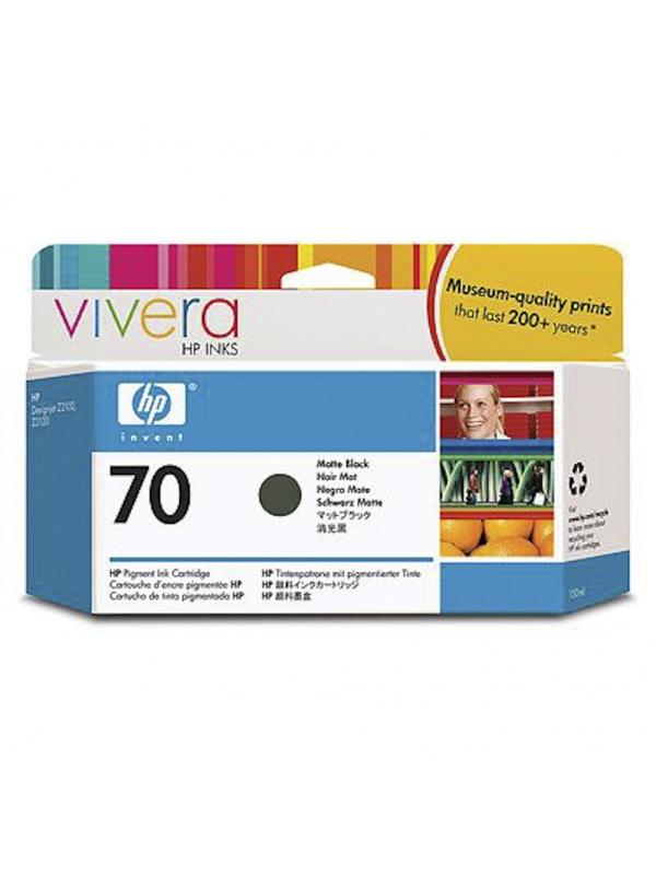 HP Tinta 70 C9448A Negro Mate 130ml Z2100/3100/3200