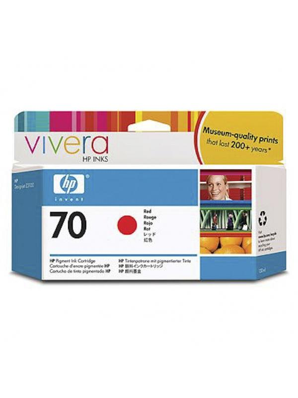 HP Tinta 70 C9456A Rojo 130ml Z3100 -