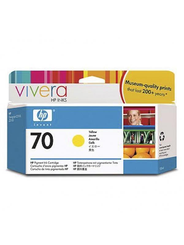 HP Tinta 70 C9454A Amarilla 130ml Z2100/3100/3200