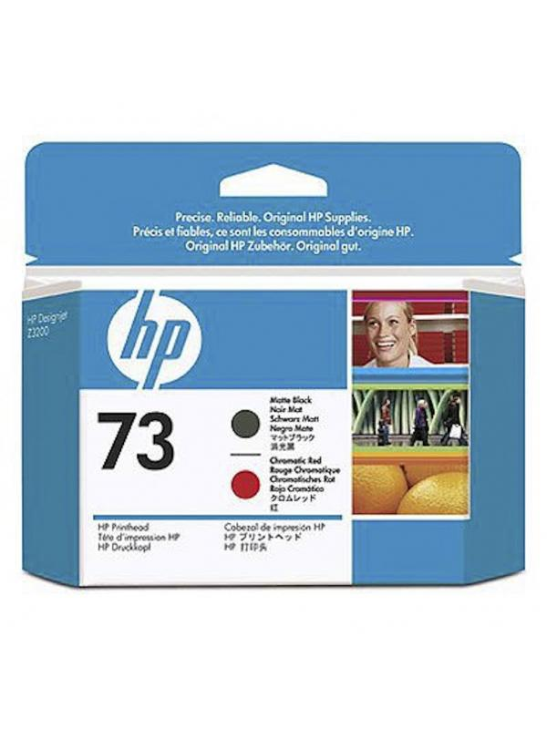 HP Cabezal 73 CD949A Negro Mate-Rojo Cromatico -
