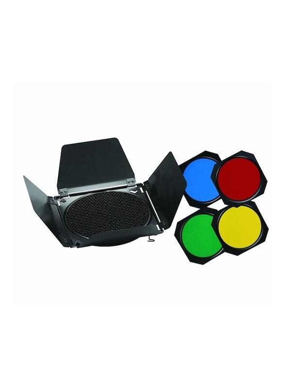 Metz Viseras 4 aletas + filtros color para Flash BD-18 -