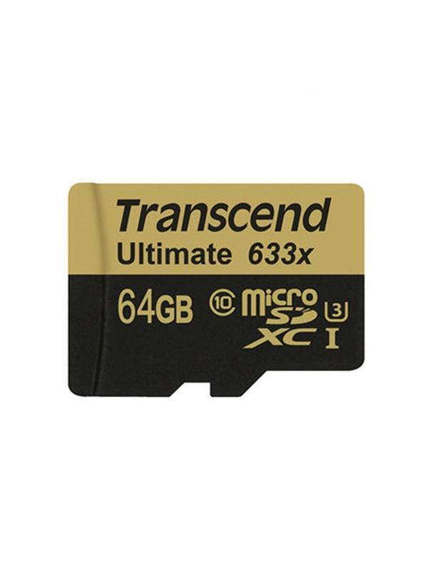 Transcend MicroSD XC 64GB UHS-I U3 633x 95MB/s -