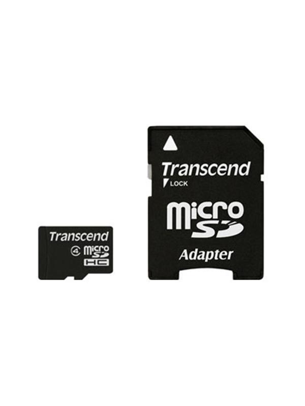 Transcend MicroSD HC Clase 4  8Gb + Adaptador -