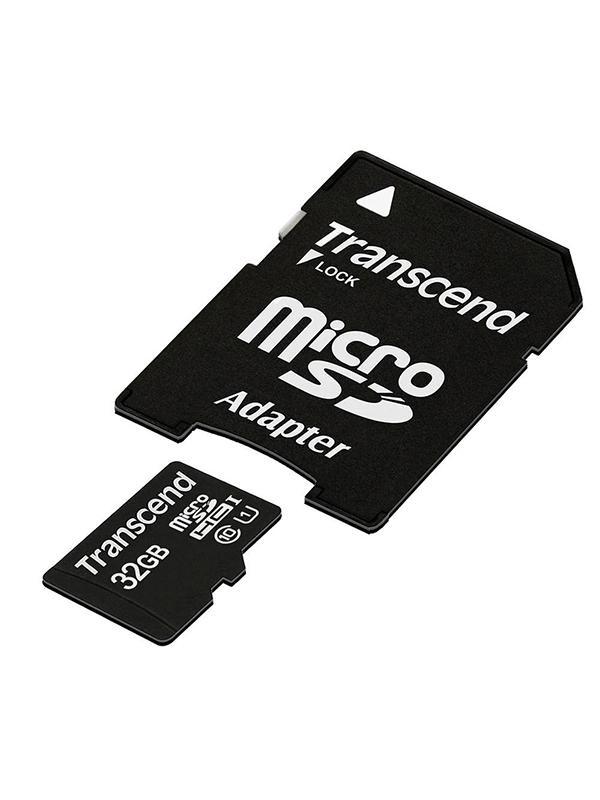 Transcend MicroSD HC Clase 10 32GB + Adap.45MB/s. -