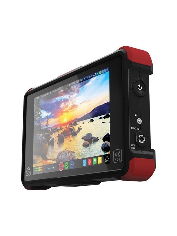 Atomos Ninja Flame 4K/HD HDMI in/out - El nuevo monitor-grabador Ninja Flame es capaz de grabar y mostrarte en pantalla toda la extensión de un perfil Log. El nuevo motor de imagen AtomHDR reproduce toda la gama de colores vibrantes y brillos que comprende el HDR por primera vez en un monitor portátil.