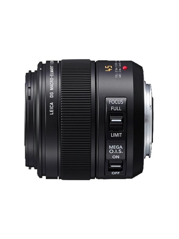 Panasonic Objetivo H-ES045 - 45mm f2.8  Macro OIS - Distancia focal f=45mm (35mm cámara equivalente 90mm) Rango de aperatura F2.8 Tamaño de filtro φ46mm / 1.81 in