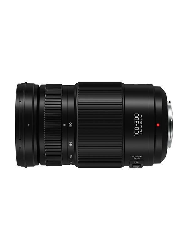 Panasonic Objetivo H-FSA100300 - 100-300mm II f4/5.6 OI - Longitud focal 100-300 mm / 200-600 mm (equivalente a cámara de 35 mm) Rango de apertura F4.0 (angular) - F5.6 (teleobjetivo) Tamaño del filtro φ67mm / 2.64