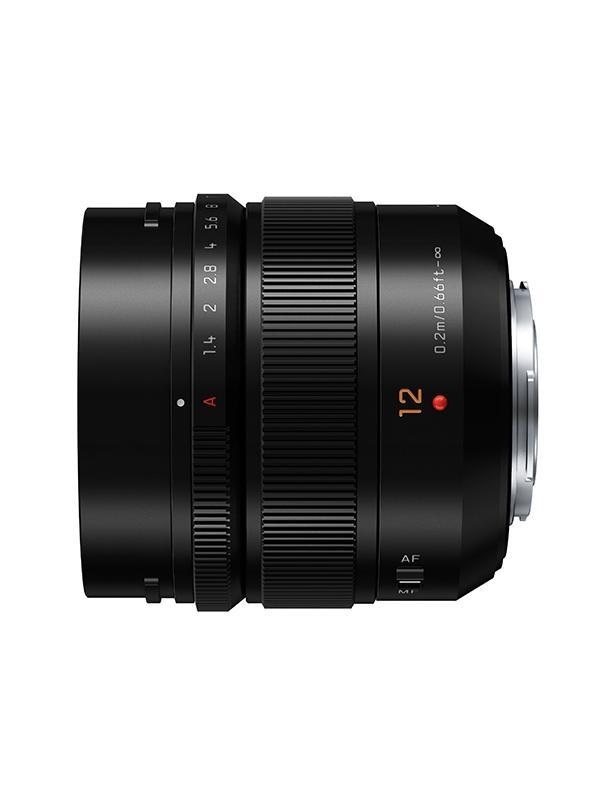 Panasonic Objetivo H-X012 12mm f1.4 Leica Summilux - Longitud focal: 12 mm/24 mm (equivalente a cámara de 35 mm) Rango de apertura: f1.4 Tamaño del filtro: φ62 mm