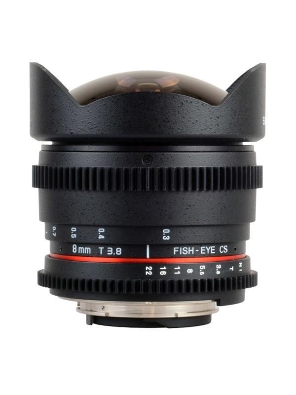 Samyang Objetivo Canon   8mm t3.8  Fisheye VDSLR (APS-C) -