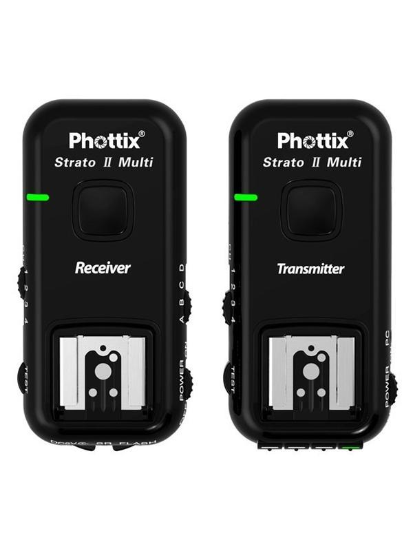 Phottix Strato II Emisor / Receptor Nikon c/ Todos los Cables -