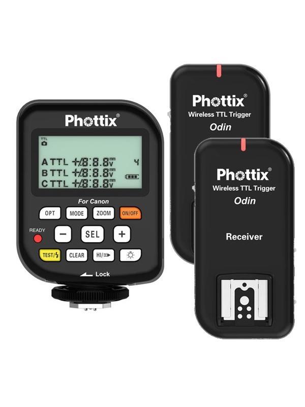 Phottix Odin Kit Emisor + 2  Receptores p/ Nikon -