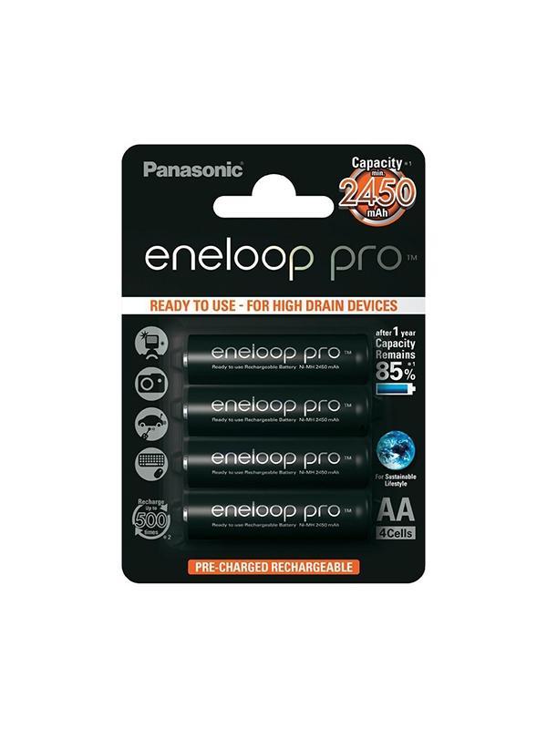Panasonic Pila Eneloop PRO 2450mAh Pack 4 AA -