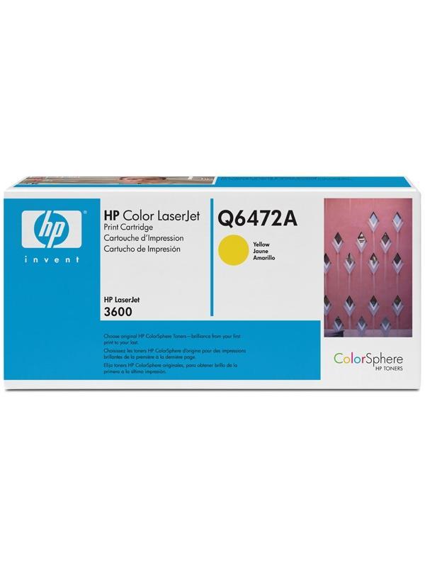 HP Toner Q6472A Amarillo Laser 4000 paginas -
