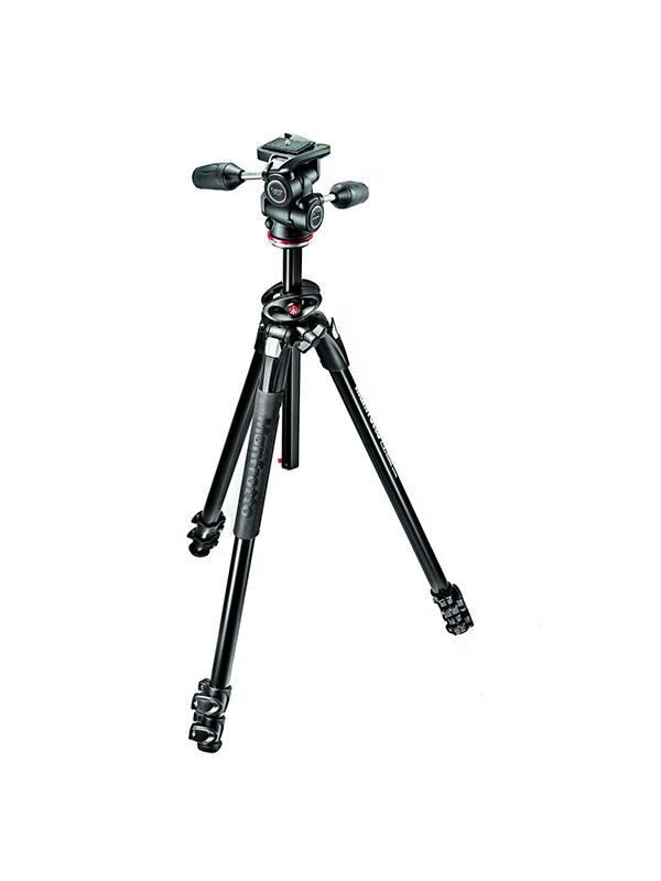 Manfrotto Trípode Kit Foto 290 Dual Rótula 3 Way -
