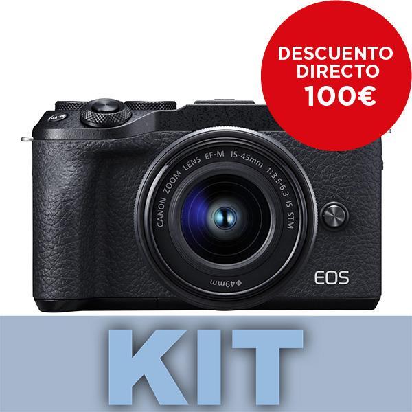 Canon Cámara EOS M6 Mark II + 15-45mm f3.5-6.3 + Visor DC2