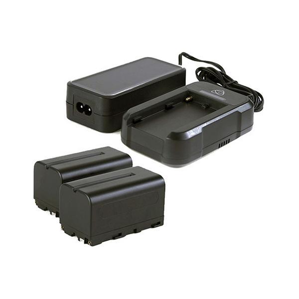 Atomos Power Kit 2 x NP-F750, Cargador Rápido, Alimentación -