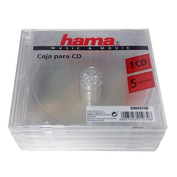 Hama Estuche CD/DVD 13x14.5cm Transparente Pack 5