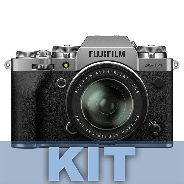 Fuji Cámara X-T4 Plata + XF 16-80mm f4