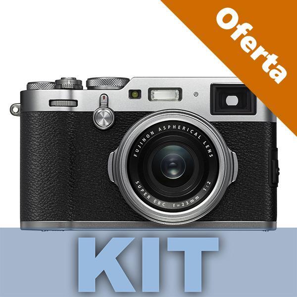 Fuji Cámara X100F Plata 24MP + XF 23mm (equivalente 35mm) -