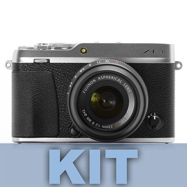 Fuji Cámara X-E3 + XF 18-55mm Plata -