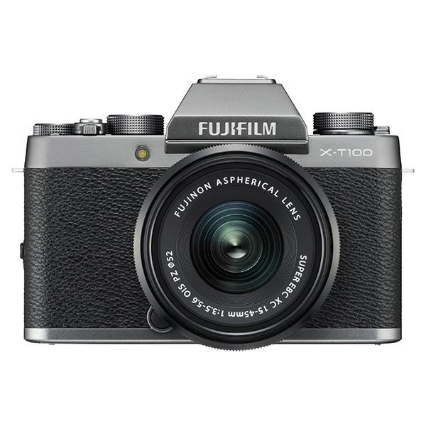 Fuji Cámara X-T100DS 15-45mm Kit - Caracterizada por su perfil compacto y apariencia refinada, la Fujifilm X-T100 es una cámara sin espejo versátil perfecta para usar en el día a día.