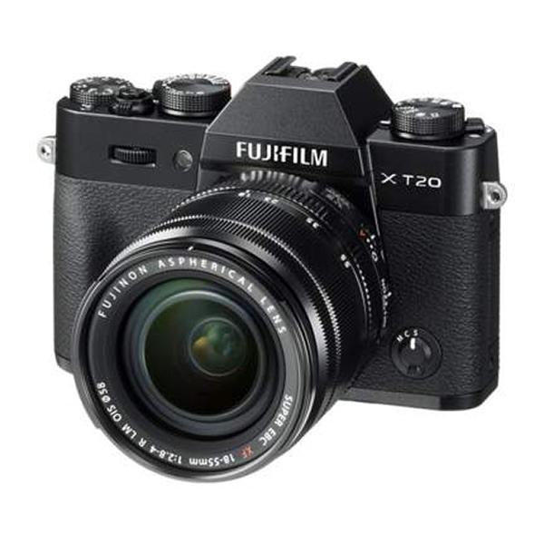Fuji Cámara X-T20 Negra + XF 18/55 f2.8/4 R LM OI