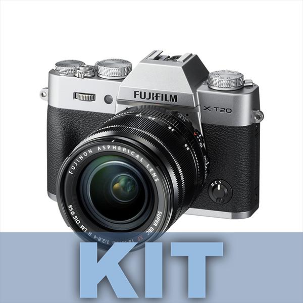Fuji Cámara XT20 Plata + XF 18-55mm f2.8-4 R LM OIS