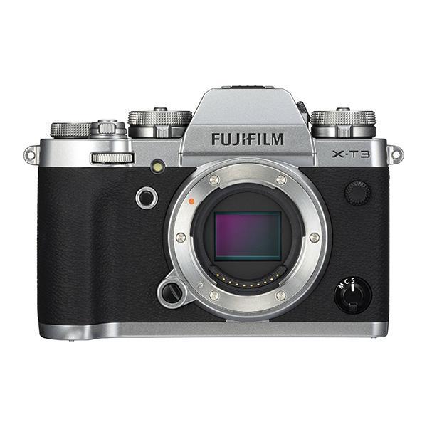 Fuji Cámara X-T3 Cuerpo Plata - Diseñada para videógrafos y fotógrafos de acción, la Fujifilm X-T3 es una cámara sin espejo versátil que se caracteriza por su rendimiento de alta velocidad, imágenes más que capaces y flexibilidad multimedia.