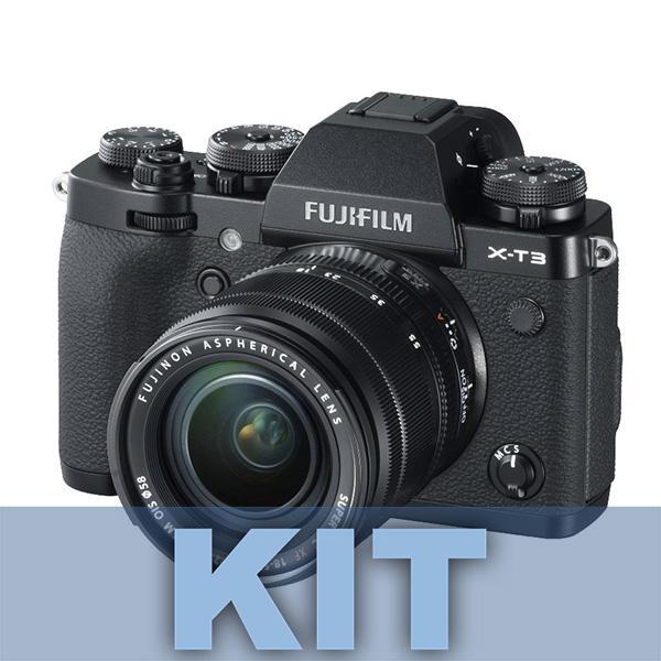 Fuji Cámara X-T3 Negra + XF 18-55mm f2.8/4 - Diseñada para videógrafos y fotógrafos de acción, la Fujifilm X-T3 es una cámara sin espejo versátil que se caracteriza por su rendimiento de alta velocidad, imágenes más que capaces y flexibilidad multimedia.