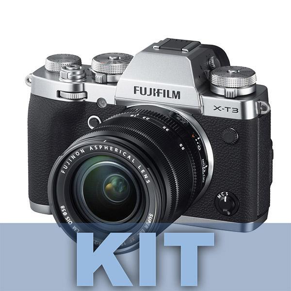 Fuji Cámara X-T3 Plata + XF 18-55mm f2.8/4