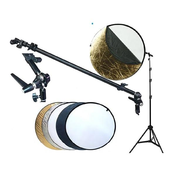 Fotima Kit Reflector 5 en 1 + Pie + Soporte 110cm