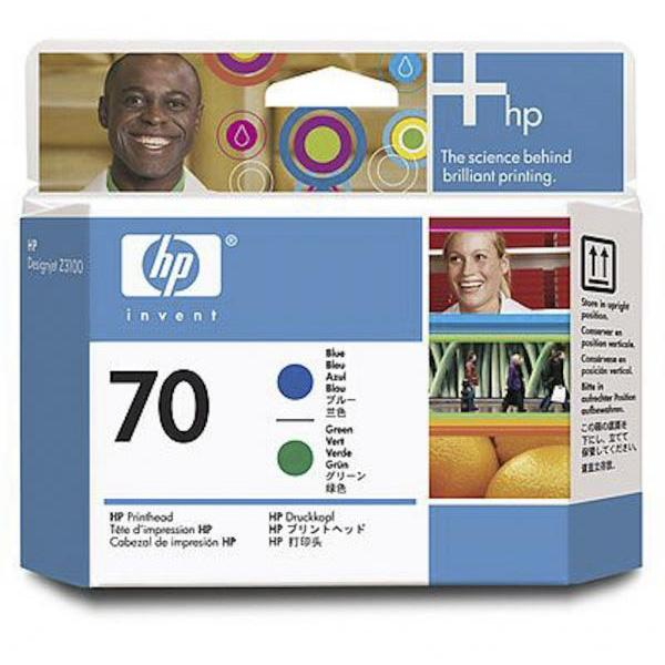 HP Cabezal 70 C9408A Azul-Verde