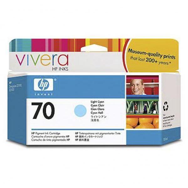 HP Tinta 70 C9390A Cian Claro 130ml Z2100/3100/3200